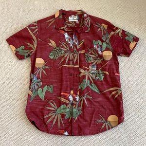 Red Billabong aloha shirt button up